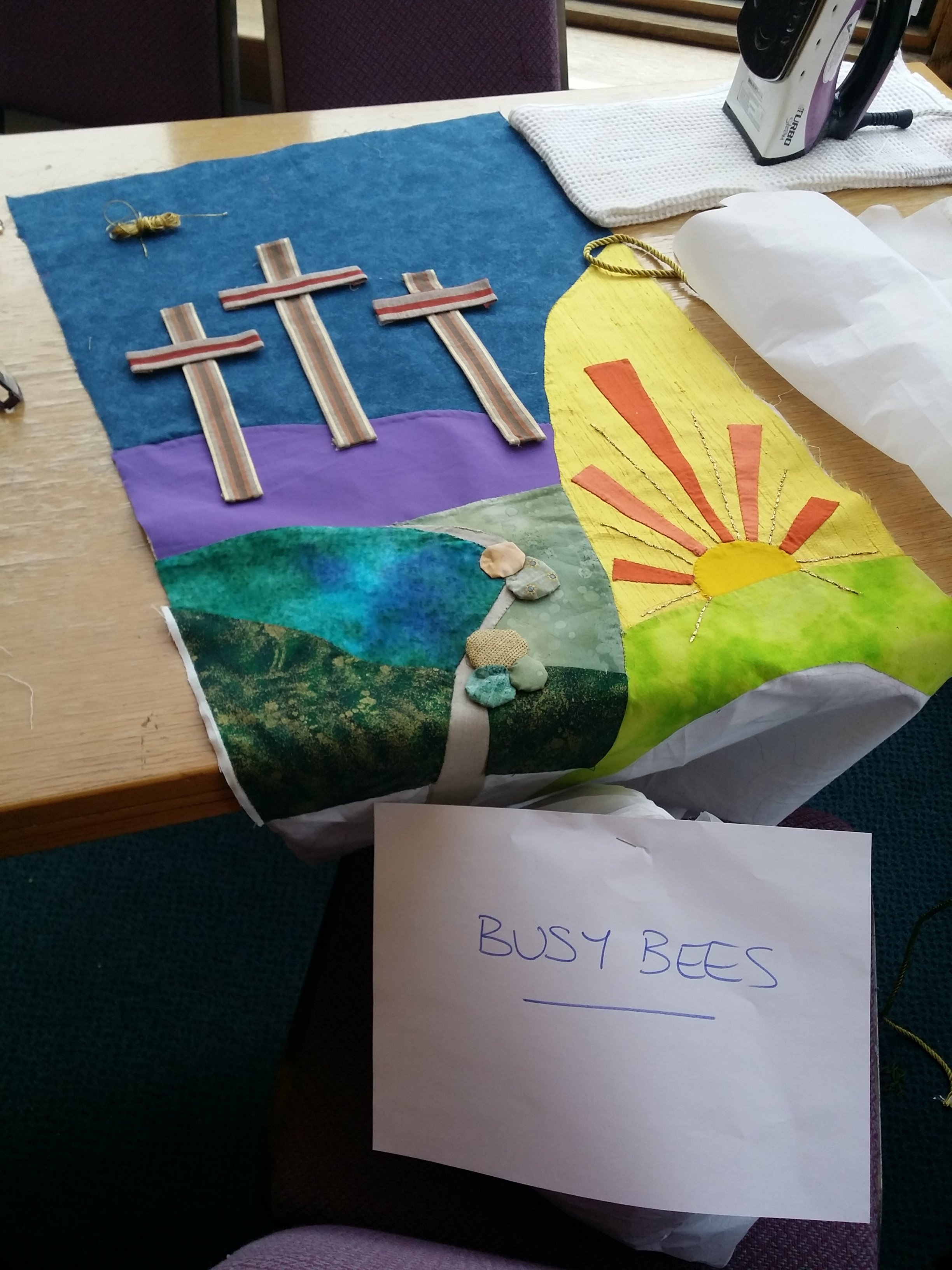 2017 - Easter banner - ready to hang in the Chapel