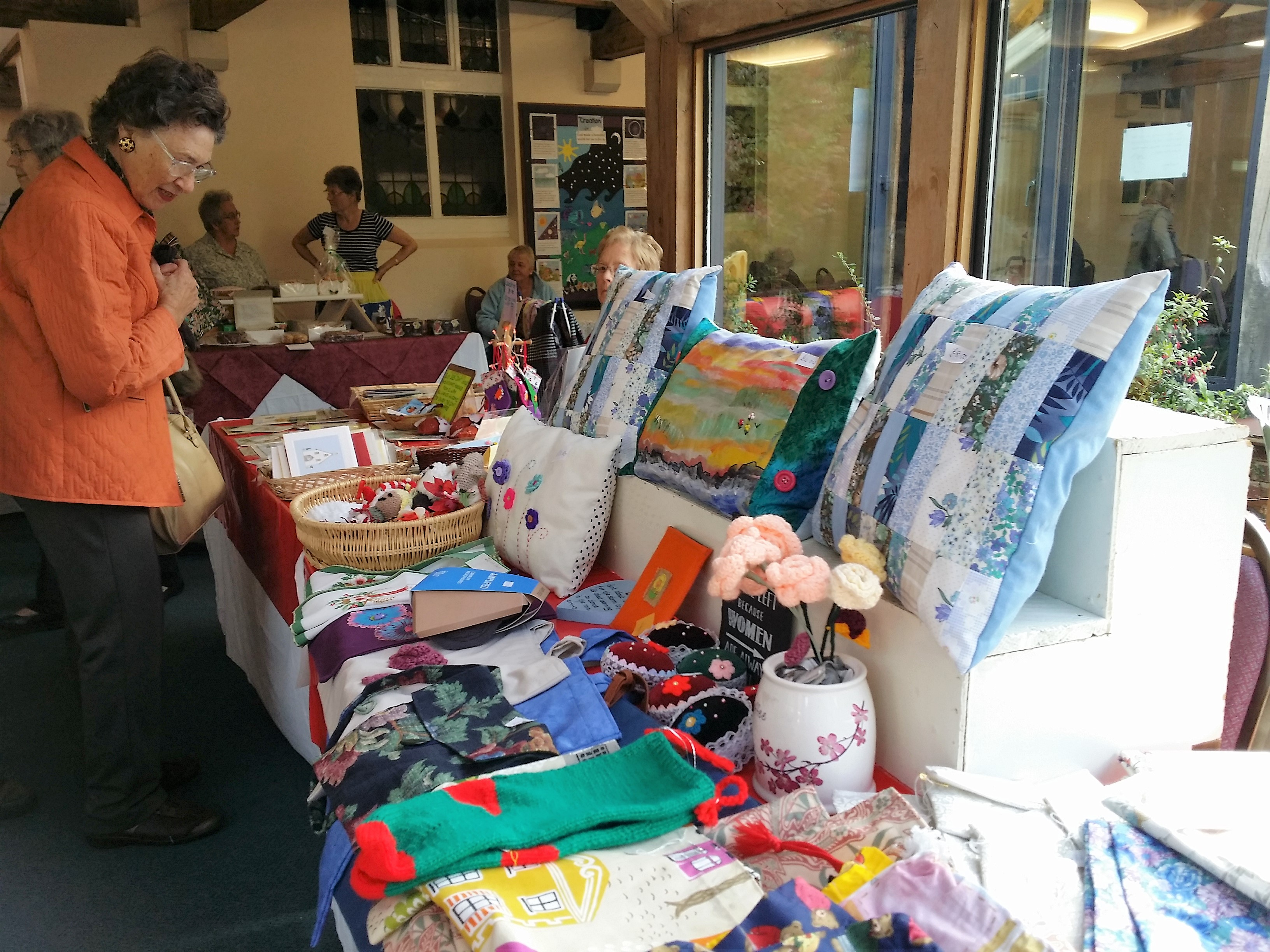 A display of the unique hand made articles for the Autumn Fair
