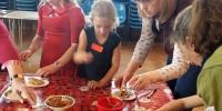 2017 - Messy Church Easter - Fun making resurrection buns