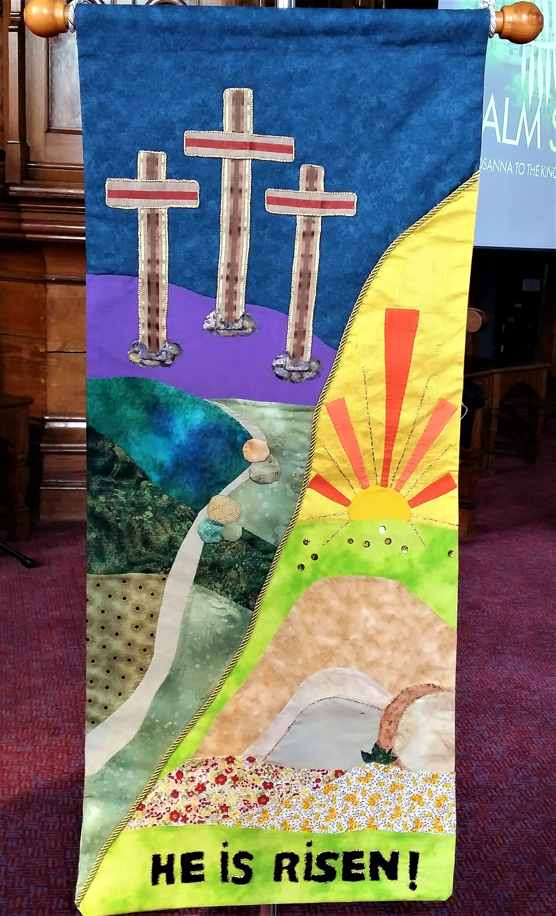 2017 - Busy Bees Easter -He is risen - banner