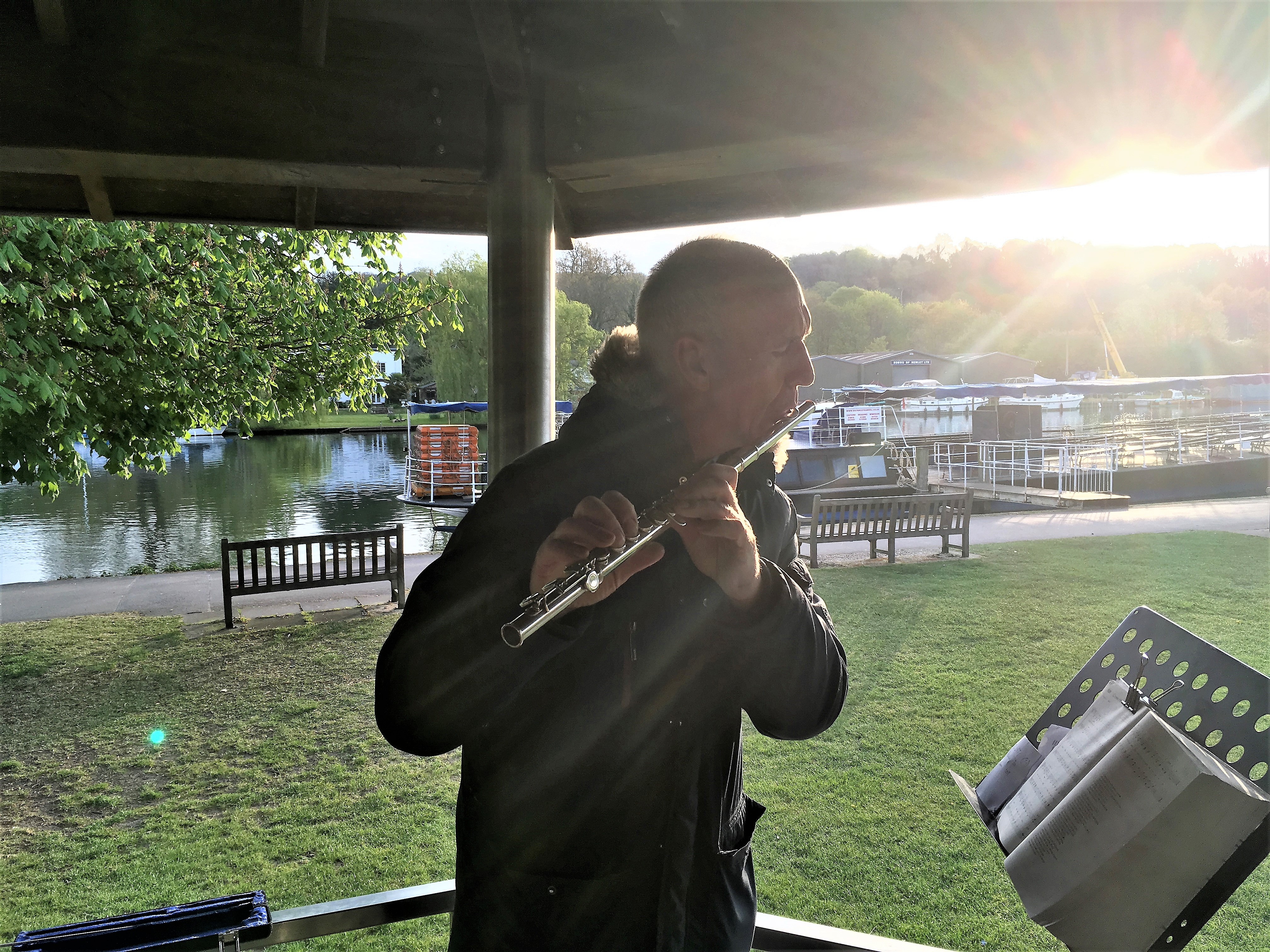 Sunrise service at mill Meadow