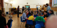 2017-03-10 Messy Church - hard at work on the Messy Henley Standard