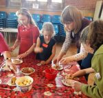 Create fun making chocolate goodies to represent Easter story