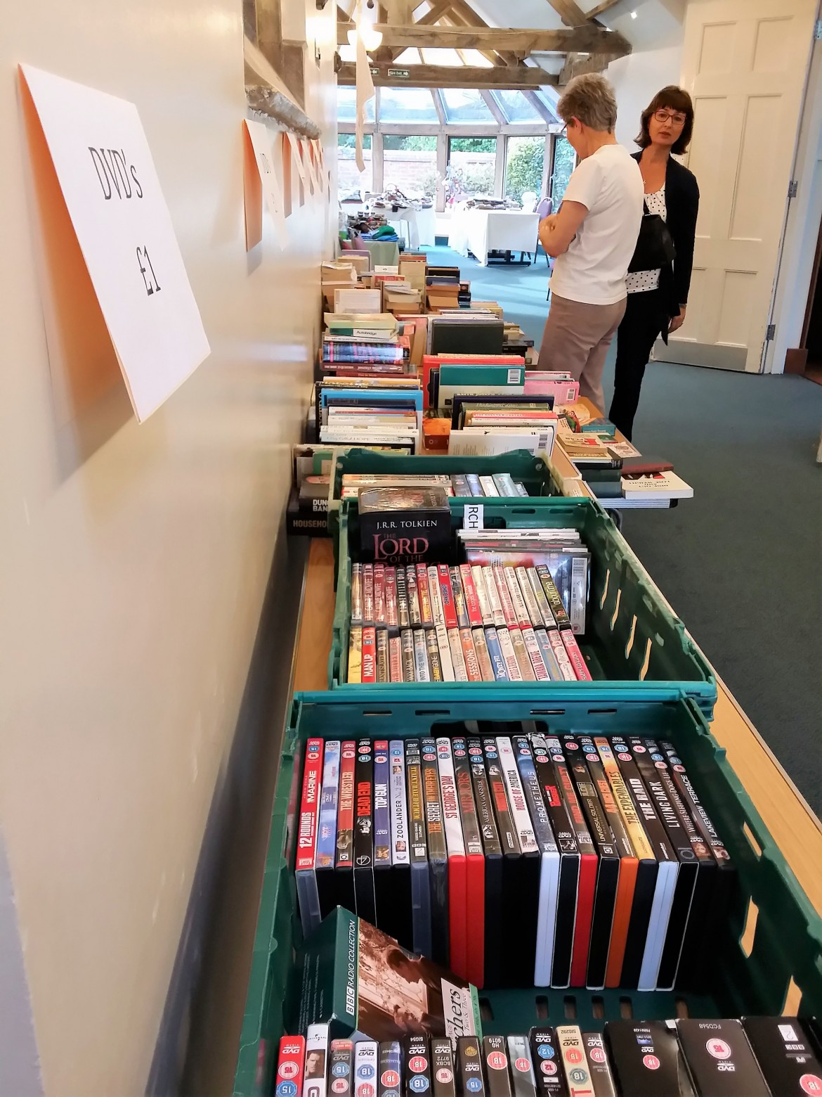 Book and DVD stall