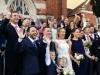 2017-10 Debbie & Jaco wedding - Cheering guests